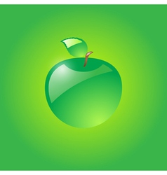 Glossy green apple vector image vector image