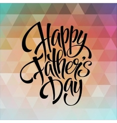 Greeting card template for Father Day vector image vector image