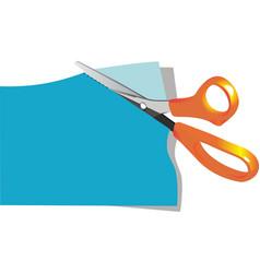 scissors cut paper vector image vector image