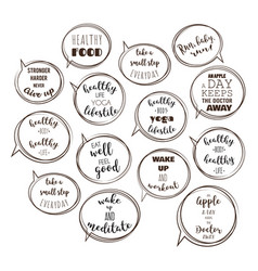 speech bubbles with motivation quotes vector image