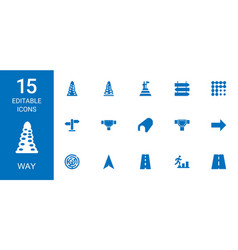 15 way icons vector