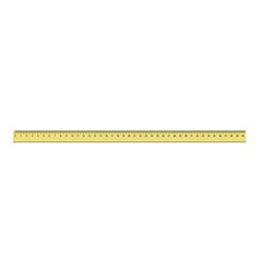 40 cm plastic ruler icon realistic style vector image