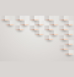 abstract 3d geometric pattern luxury background vector image