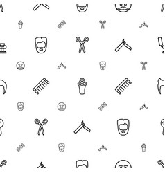 Barber icons pattern seamless white background vector