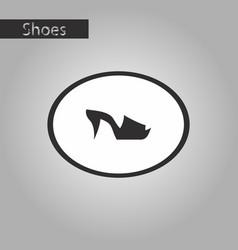 Black and white style icon flip flops heels vector