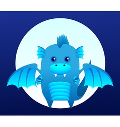 Blue dragon vector image