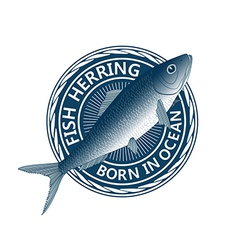 Blue fish herring vector