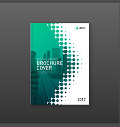 Brochure cover design template for business vector