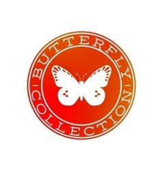 Butterfly collection white label design vector