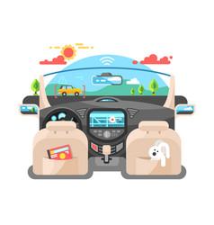 Car autopilot computer system vector
