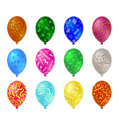 color set glossy balloons with a picture in the vector image
