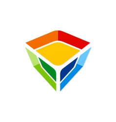 Colorful gem technology logo vector
