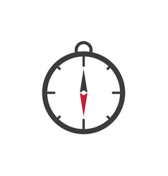Compass icon icon flat white background vector