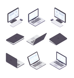 computer technology - set of modern vector image