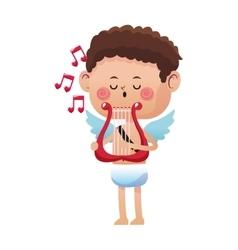 Cupid cartoon icon vector