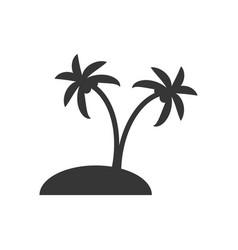 desert island silhouette vector image