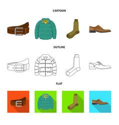 Design man and clothing sign set man vector