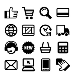 E-commerce business icons set vector