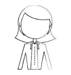 Elegant businesswoman avatar character vector