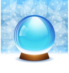 Empty transparent snow globe vector