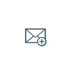 envelope icon design interaction icon line vector image