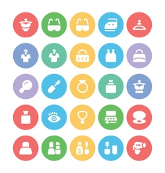 Fashion Colored Icons 7 vector