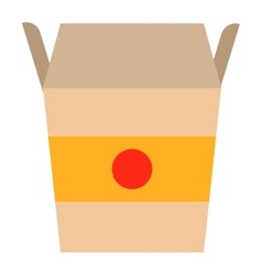 Fast food noodles box vector image