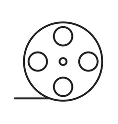 film roll linear icon vector image