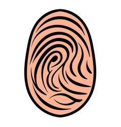 Fingerprint icon icon cartoon vector