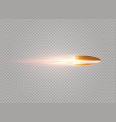 Flying bullet with vector