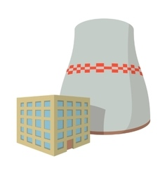 Fossil fuel power station cartoon icon vector image