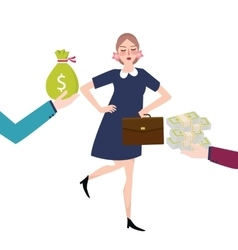 good payment money salary offer jobs career vector image