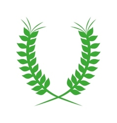 Green crown formed with two olive branch vector