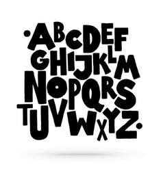 Hand drawn comics style lettering font alphabet vector