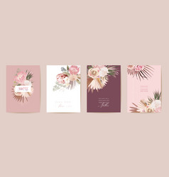 happy mothers day watercolor card set greeting vector image