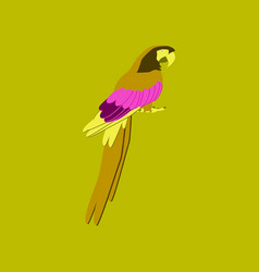In flat style of parrot vector