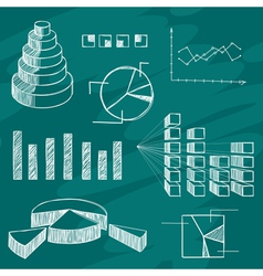 Infographics elements sketch vector image