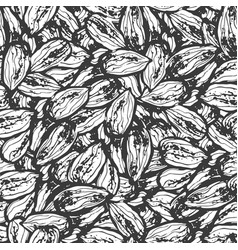 ink hand drawn seamless pattern with almond vector image vector image