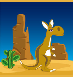 Kangaroo on nature vector