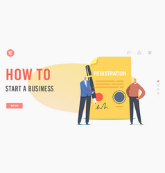 Landing page template business company vector