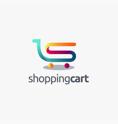 letter s for shopping cart logo icon template vector image