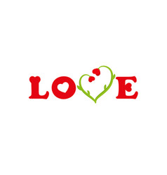 lettering love greeting card vector image