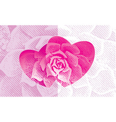 love floral vector image