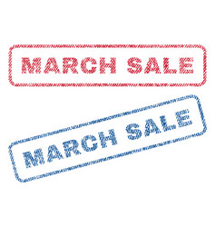 march sale textile stamps vector image