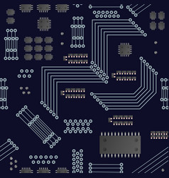 Micro processor seamless pattern vector
