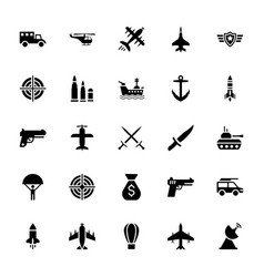 Military services icons vector