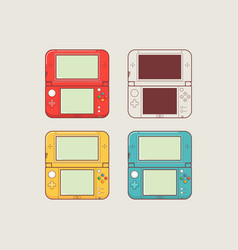 mobile video console video game console portable vector image