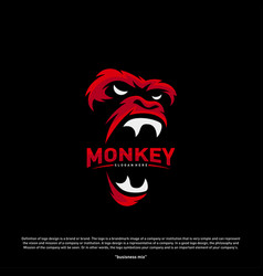 monkey gorilla esport gaming mascot logo template vector image