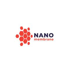 Nano materials logo vector