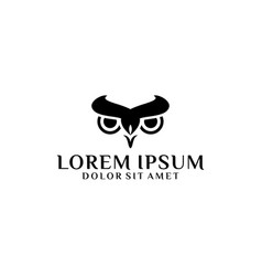 owl head logo template with abstract line art vector image